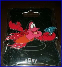 Disney 60th Anniversary WDI Imagineering Little Mermaid Pin Set Ariel, Ursula