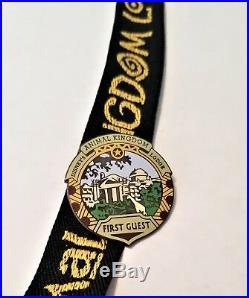 Disney Animal Kingdom Lodge First Guest 5 Pin Set with Lanyard VERY RARE -2001