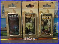 Disney Animal Kingdom World of Avatar Pandora Travel Poster 3 Pin Set/Collection