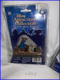Disney Attractions Die Cast Metal Vehicles Set Of 3 Vintage Toys