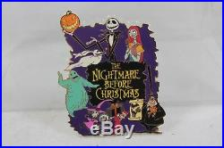Disney Auction LE 100 Pin Nightmare Before Christmas Jumbo NBC Cast Characters
