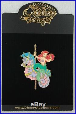 Disney Auctions LE 100 Pin Princess Carousel Ariel Little Mermaid