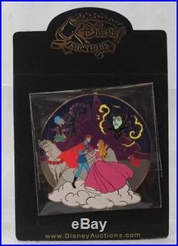 Disney Auctions LE 100 Pin Sleeping Beauty Cast Jumbo Aurora Maleficent Phillip