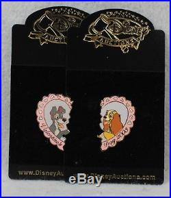 Disney Auctions LE 100 Pin Valentines Day 2003 Lady and the Tramp