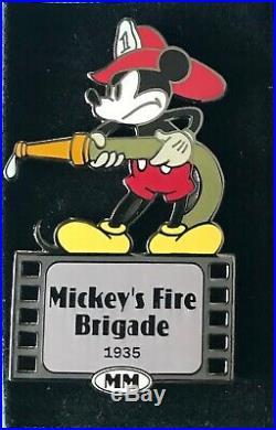 Disney Auctions Mickey Fireman Firefighter Fire Brigade Hose Helmet Le 100 Pin