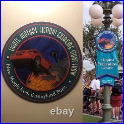 Disney Authentic Park Sign RARE Disneyana Walt Disney World Hollywood Studios