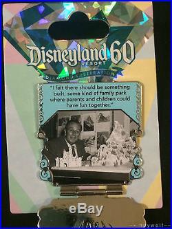 Disney BLUE DIAMOND WALT QUOTE 60th Anniversary Countdown Series LE 3000 Pin