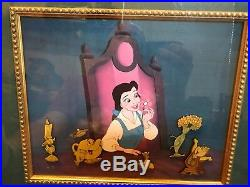 Disney Beauty & The Beast 6 Pin Framed Limited Edition Set with COA 10th Anniversa