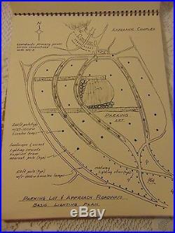 Disney Blueprints of Lighting For New Walt Disney World Theme Park Florida 1969