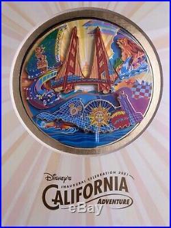Disney California Adventure DCA Limited Edition Inaugural Pin on Pin Set