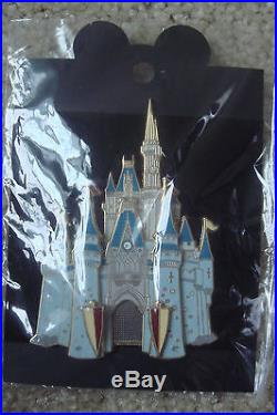 Disney Cast Member Castle Series Complete Set of 4 Jumbo Pins Mint
