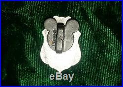 Disney Cast Member Firefighter Disneyland Fire Dept Shield Logo Tie Tac Pin RARE