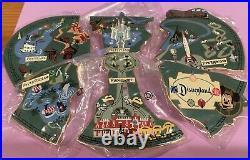 Disney Cast Member PARK ATLAS MAP Disneyland Puzzle Pin Set of 6 RARE LE 1500