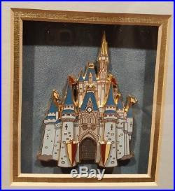 Disney Castle Series Jumbo 3D Cast Member Exclusive Slider Pins Set of 4 pins