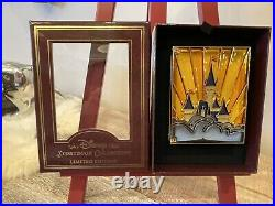 Disney Castle Wdw Storybook Jumbo Mickey Minnie Stained Glass Hinged Le 750 Pin