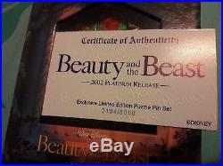 Disney Catalog Beauty and the Beast Puzzle Pin Set (NIB) LE 2104 / 5000