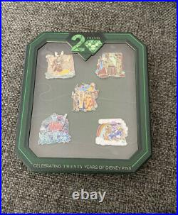 Disney Celebrating 20 Years Of Pin Trading Event WDW Storytellers Pin Set LE250
