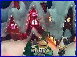 Disney Christmas Town Animated Music Box Rare Limited Edition