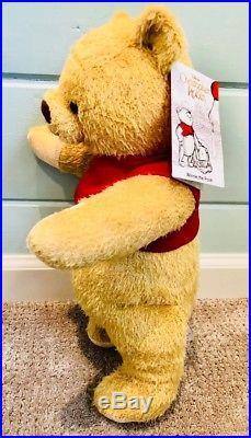 Disney Christopher Robin Movie Winnie The Pooh Plush Theme Parks. Mint. A+Seller