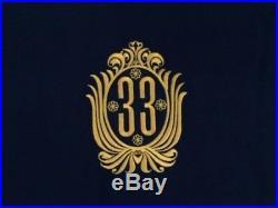 Disney Club 33 Logo 44 x 60 Black Acrylic Sports Blanket NIP RARE