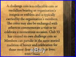 Disney Club 33 Logo Challenge Coin NIP