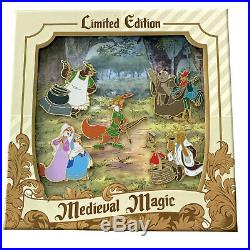 Disney Collector Pin Set Medieval Magic Robin Hood Boxed LE 1000 Disneyland