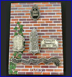 Disney Collector Pin Set of 5 Haunted Mansion Pet Cemetary Tombstones LE 5000