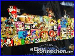 Disney Cruise Line WONDER Ship RARE Framed 100 Pin Collage Set Collection
