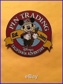 Disney DCA California Adventure Supertrader Vest Mickey Trading logo Pin
