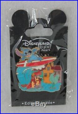 Disney DLP Paris LE 900 Pin Stitch Invasion Little Mermaid Ariel Europe Denmark