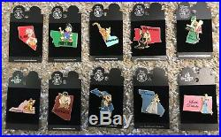 Disney DLR 49 State Character Pins MOC