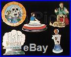 Disney DLR Cast Member 40th Anniversary Pin Set #1 Rare