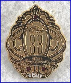 Disney DLR Club 33 40th Anniversary Small Logo Jeweled LE Pin