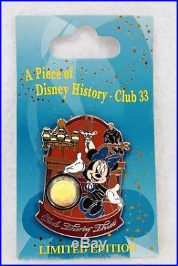 Disney DLR Disneyland Piece of History Pin Club 33 Minnie Mouse