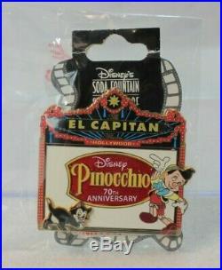 Disney DSF DSSH El Capitan Theatre Marquee LE 150 Pin Pinocchio 70th Anniversary