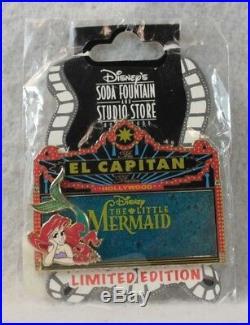 Disney DSF DSSH El Capitan Theatre Marquee LE 300 Pin The Little Mermaid Ariel