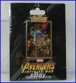 Disney DSF DSSH Marvel LE 150 Pin Avengers Infinity War Poster Thanos