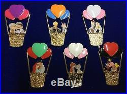 Disney DSSH Love is in the Air Hot Air Balloon Compete 6 Pin Set