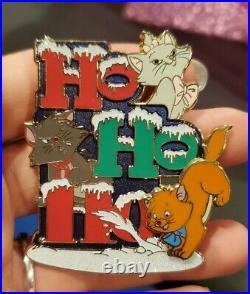 Disney DSSH Marie Christmas 2017 Ho Ho Ho Pin Aristocats Toulouse Berlioz Cat LE