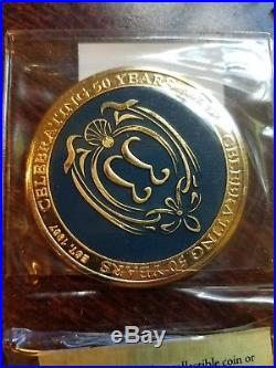 Disney Disneyland Club 33 50th Anniversary LIMITED EDITION Challenge Coin