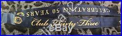 Disney Disneyland Club 33 50th Anniversary Logo Lanyard Medallion NEW Unused