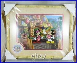 Disney Disneyland Enchanted Tiki Room 45th Anniversary Framed Cel and Pin Set