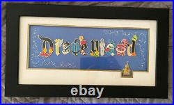 Disney Disneyland Gothic Character Attraction Letter Framed 11 Pin Set LE 500