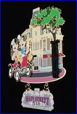 Disney Disneyland Main Street USA Mickey & Minnie Jumbo Pin Alex Maher