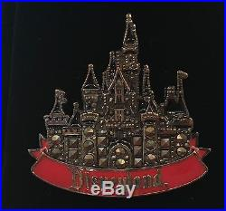 Disney Disneyland Marcasite Castle Boxed Pin LE 50 RARE