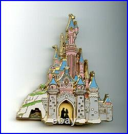 Disney Disneyland Paris Sleeping Beauty Castle Aurora Cast Drawbridge Jumbo Pin