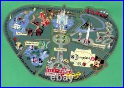 Disney Disneyland Park Atlas Lands Map Puzzle Piece Cast LE Pin Set