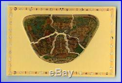Disney Disneyland Park Map Puzzle Piece Pin Set & Character Card Border Backing