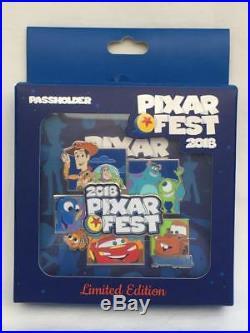 Disney Disneyland Pixar Fest Jumbo Logo AP Pin LE 1000 & Logo Pin LR (2 Pins)
