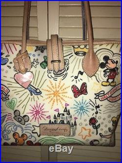Disney Dooney And Bourke Theme Park Sketch Tote